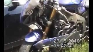IDIOT CRASHES BRAND NEW MOTORCYCLE-EPIC FAIL