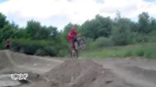 idiot on the bike fail owned