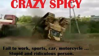 [Funny FAILS compilation] to work, Russian. Ridiculous and idiots people & WTF - Crazy Spicy △