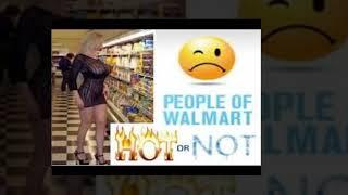 Collection of funny people at walmart