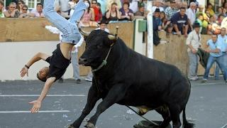 Dangerous Bull Fight Accidents Compilation 2017 Lucky and Funny People Fail Video Clips