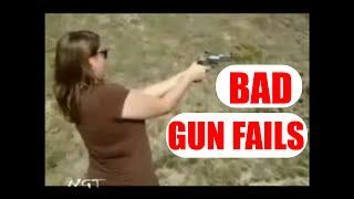 Epic Gun Fails Compilation: Idiots with Guns