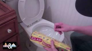 Saran Wrap Toilet Prank On Girlfriend