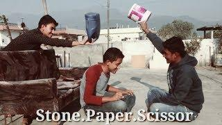 Funny people playing rock, paper scissors & More