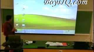 Math Teacher Shadow Trick During Lecture  fresh funny films college humor prank war april fools