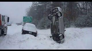 IDIOT SNOW DRIVING | FAILS & CRASH