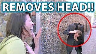 Best Scare Prank EVER!!! Magic Illusion in PUBLIC!
