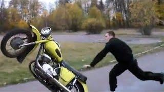 Extreme Idiot Biker Funny Motorcycle Brutal Fail Compilation Video