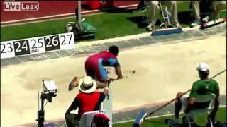 Funny long jump big fail idiot.flv