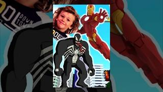 SPIDERMAN vs IRONMAN Death BATTLE Free Style - BLACK Spiderman vs Ironman PRANKS