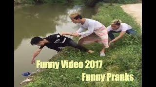 Funny videos 2017 - Funny pranks videos vines compilation try not to laugh challenge in read life