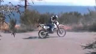 Idiot!!! Motorrad Burnout Fail