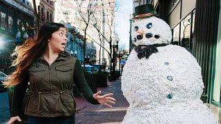 Funny Scary Snowman Pranks Top 50 Of All Time 2016