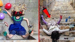 10+ Funny Photos of People Posing As If They Have Just Fallen Down! Wow!
