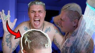NAIR HAIR REMOVAL PRANK! HE LOST ALL OF HIS HAIR!!
