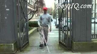 Blind Man Walking  high defination fun video college humor prank april fools jokes for kids april