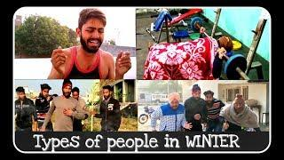 Types of People in Winter // 2017 trendy video //funny video// RK BISHNOI //ft.only landers