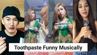 Bina Namak wala Toothpaste  Funny Musically Compilation